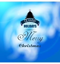 Christmas beautiful background with xmas tree vector