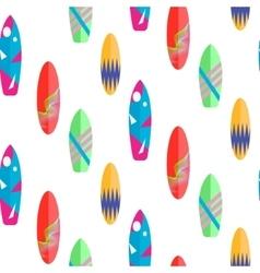 Surfboard seamless pattern multicolor vector