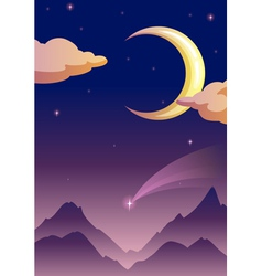 Moonlit evening vector