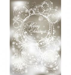 abstract Christmas greeting card vector image vector image
