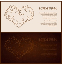 Abstract decorative old-fashioned vintage template vector image