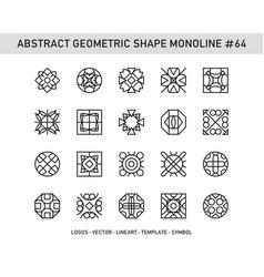 Abstract geometric shape monoline 64 vector