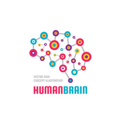 Abstract human brain - business logo vector