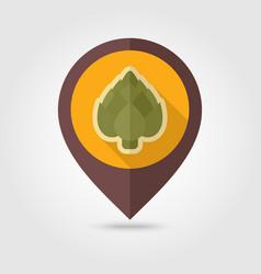 artichoke flat pin map icon vegetable vector image
