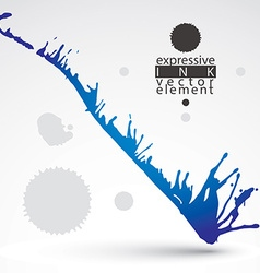 Artistic bright abstract dirty ink template vector
