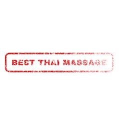 Best thai massage rubber stamp vector