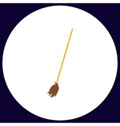 Broom computer symbol vector