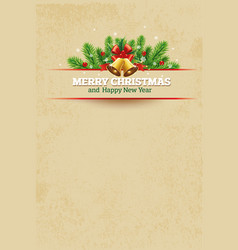 christmas vintage greeting card background vector image vector image