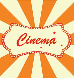 Cinema billboard vector image
