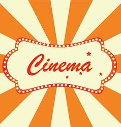 Cinema billboard vector image vector image