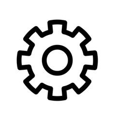 cog wheel icon symbol of settings or gear vector image