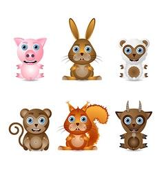 Cute animal characters vector