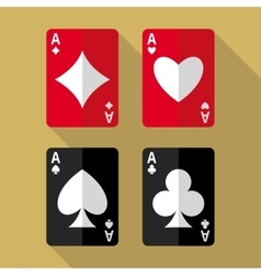 Four aces playing cards vector image