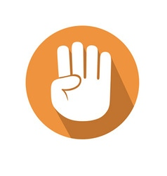 Four fingers gesture vector