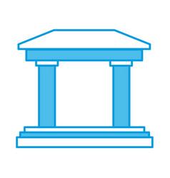Greek building columns vector