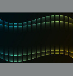 Green abstract pixel curve background vector