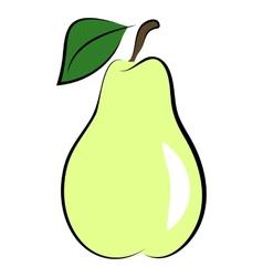 icon of pear vector image vector image