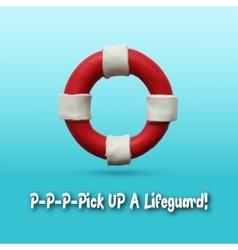 Lifebuoy on blue background vector image