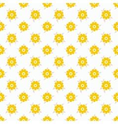 Light summer seamless pattern tiling fond white vector