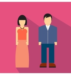 Man and woman flat icon vector image vector image