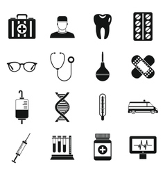 Medicine icons set simple style vector image vector image