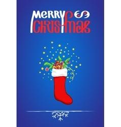 Merry christmas wording vector