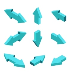 moders set of isometric arrows vector image vector image