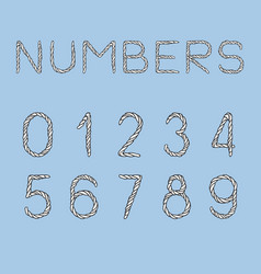 Nautical rope numbers vector