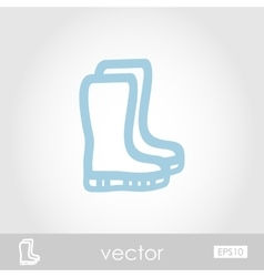 Rubber boots gumboots wellies icon vector
