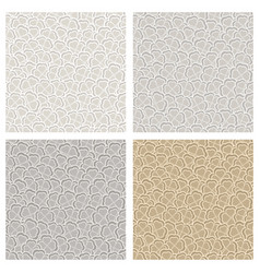 Seamless pattern of gray clover vector