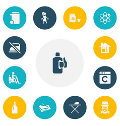 set of 13 editable hygiene icons includes symbols vector image
