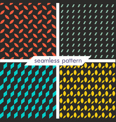 Set of four seamless geometrical patterns 19 vector