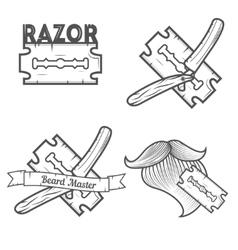 Set of logotypes for barbershop vector