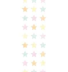 Stars textile textured pastel vertical seamless vector image vector image