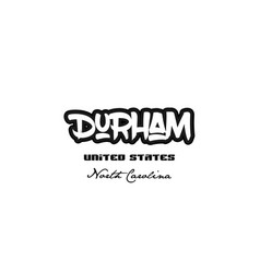United states durham north carolina city vector