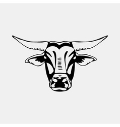Logo symbol sign stencil bull headunique technique vector