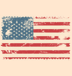Grunge flag of usa vector