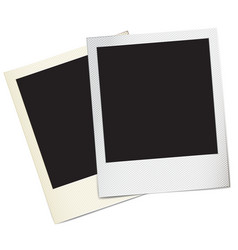 Retro paper photo frames vector