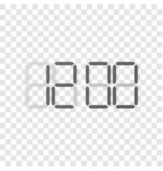 Digital clock display concept vector