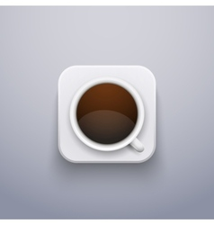 Realistic coffee cup icon for web or application vector