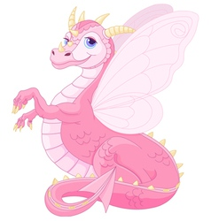 Beautiful magic dragon vector