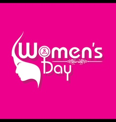 Womens day greeting card design vector