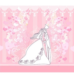wedding dancing couple background vector image