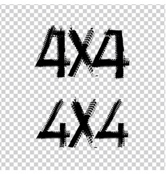 4x4 lettering image vector
