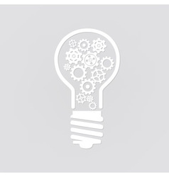Light bulb with gears vector image