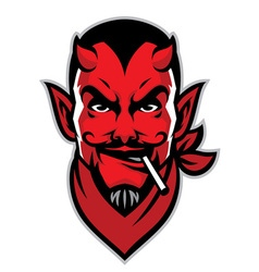 Devil rider head mascot vector