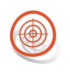 Aiming mark sign sticker orange vector