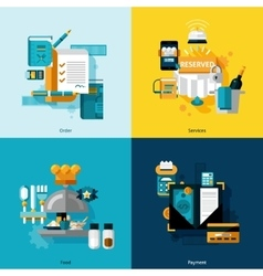 Restaurant services set vector