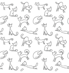 cats seamless vector image