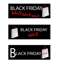 Paper shopping bags for black friday special vector